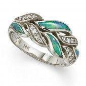 Mati opal and diamond ring