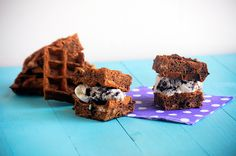Waffle ice cream sandwiches are definitely a summer tradition. Chocolate malt waffle ice cream sandwiches are an even better one!    And so Waffle Week 2014 winds down to an end. We've had some fa