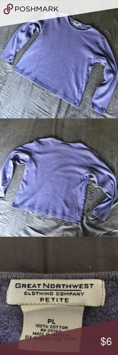 Great Northwest light purple long sleeve shirt In good used condition, some pilling from washing. Great Northwest Tops Tees - Long Sleeve