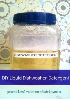 3 Ingredient DIY Liquid Dishwasher Detergent