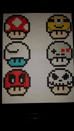 Crampiñones pixel art - Minecraft World