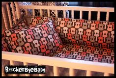 CUSTOM punk baby 4 piece crib bedding set fabric by RockerByeBaby, $300.00