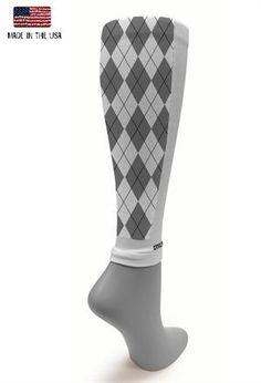 New White Collection Grey Argyle Sleeve  #crazycompression #crazyclan