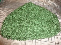 gorro de lana verde