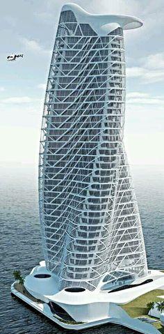 Strata tower Abu Dhabi UAE