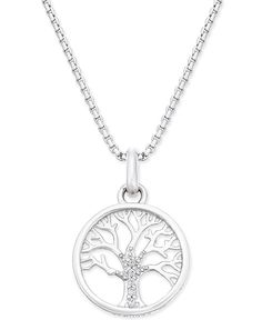 Thomas Sabo Karma Beads Tree of Life Pendant Necklace in Sterling Silver