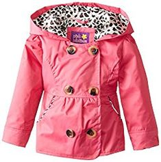 Platinum Little Girls Double Breasted Trench Jacket Pink Platinum Little Girls' Double Breasted Trench Jacket, Fuchsia, 4T Double breasted light weight jacket with hood.   #girls #TinkertoyPinkBuildingSet