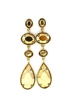 Gold on Gold Teardrop Earrings
