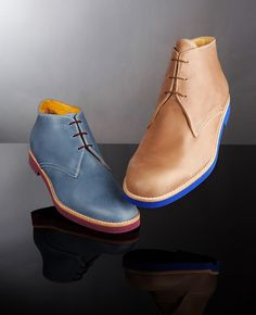 leather chukkas. and i really like the color integration. T and F Slack Shoemakers London