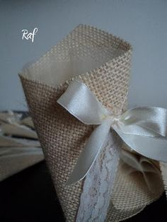 Creazioni di Raf - Wedding creations : coni juta