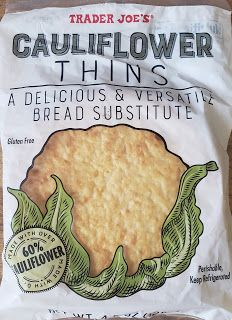 What's Good at Trader Joe's?: Trader Joe's Cauliflower Thins Trader Joe's, Trader Joes Food, Cauliflower Crust Pizza, Cauliflower Recipes, Halal Snacks, Bread Substitute, Lean And Green Meals, Egg Sandwiches, Whole Grain Bread