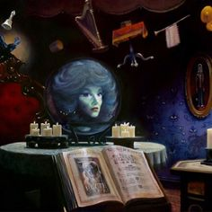 Madame Leota.....how I enjoy staring at this during the ride !