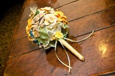 Fabric flower bouquet - makes for a good keepsake forever after the wedding as well
