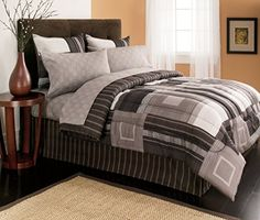 Mainstays Plaid Brown Bed In A Bag Bedding Set Walmart