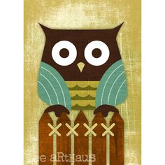22 Owl on Fence
