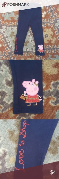 Peppa Pig leggings Navy with Peppa Pig details. These are great for play. Tag has been removed. Show some wear. Bottoms Leggings