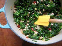 Spanish white beans with spinach (eggsonsunday)