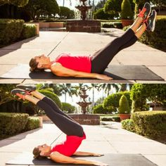 Criss-Cross Lift and Switch - Burn Lower-Belly Fat: The Best Exercises for Lower Abs - Shape Magazine