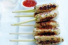 Chicken and lemongrass skewers recipe, NZ Herald – visit Eat Well for New Zealand recipes using local ingredients - Eat Well (formerly Bite) Food Hub, A Food, Oven Baked Vegetables, Lemongrass Recipes, Vegetable Tart, Skewer Recipes, Sweet Chilli Sauce, Roasted Turkey, Fish Dishes