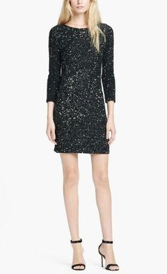 Oh la la! Haute Hippie Jewel Neck Sequin Dress for New Years Eve