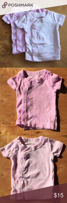 Pair of Naturally Dyed Newborn Shirts Two 100% cotton Newborn Shirts. Hand dyed with natural beet dye. Never worn. Shirts & Tops Tees - Short Sleeve