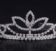 Shiny Rhinestone Mask Shape Girl Wedding Prom Tiara Crown Headband