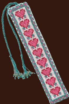 Cross Stitch Bookmark Simple bookmark realized seamless except for the cross stitch. Embroidery pattern available. Cross Stitch Pillow, Cross Stitch Books, Just Cross Stitch, Cross Stitch Bookmarks, Cross Stitch Heart, Cross Stitch Borders, Cross Stitch Designs, Cross Stitching, Cross Stitch Embroidery