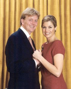 les fiançailles :la photo officielle  Prins Willem-Alexander en Maxima