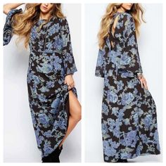 ReducedFree People Melrose printed dress New with tags, gorgeous long boho maxi dress by Free People. Fits true to size Free People Dresses Maxi