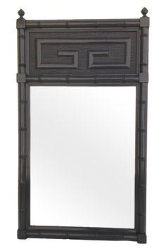 "Faux Bamboo Henry Link ""Bali-Hai"" Greek Key Mirror on Chairish.com"