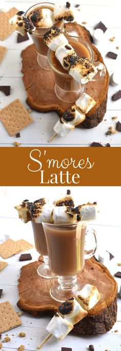 S'mores latte features a delicious coffee topped with toasted marshmallows, graham cracker crumbs and chocolate shavings for a fun treat! www.nutritionistreviews.com #coffee #latte #smores #treat #dessert #beverage Healthy Cookie Recipes, Peanut Butter Recipes, Healthy Cookies, Graham Cracker Crumbs, Graham Crackers, Healthy Baked Chicken, Roasting Marshmallows, Toasted Marshmallow, Butter Pecan