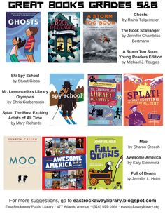 East Rockaway Public Library Great books for 5 and 6th graders #middlegradesread
