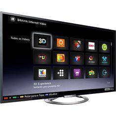 Smart TV 3D LED 55″ Sony KDL-55W955A Full HD, por R$ 6.789,00