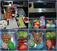 Fast bentos times 2, Easter bunny and Easter Egg