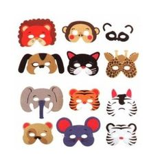 Amazon.com: 12 Assorted Foam Animal Masks for Birthday Party Favors Dress-up Costume: Toys & Games