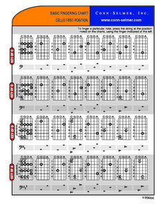 Conn-Selmer Cello Basic Fingering Charts 1st Position.