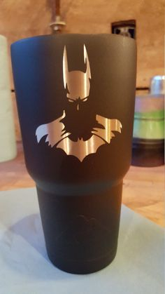 Check out this item in my Etsy shop https://www.etsy.com/listing/453254744/batman-matte-black-permanently-etched