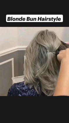Bun Hairstyles For Long Hair, Pretty Hairstyles, Braided Hairstyles, Hairdos, Hair Up Styles, Medium Hair Styles, Great Hair, Hair Today, Hair Videos