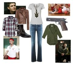 """""""Female Dean Outfit"""" by dark-angel ❤ liked on Polyvore featuring SAM., Citizens of Humanity, Witchery, TEXTILE Elizabeth and James, MANGO, Full Tilt, Bionda Castana, supernatural, spn and dean. dean winchester"""