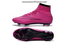 Nike Men's Mercurial Superfly FG Hi Top Football Boot Soccer Cleat Pink  $77.00