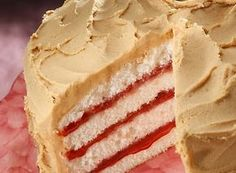 Peanut butter and jelly cake. Best PB ever! http://thestir.cafemom.com/food_party/126607/peanut_butter_and_jelly_cake?utm_medium=sm_source=pinterest_content=thestir