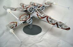 Impressive Star Wars X-Wing Fighter Made From Recycled Beer Cans