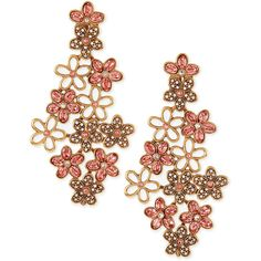 Oscar de la Renta Crystal Daisy Clip-On Earrings ($205) ❤ liked on Polyvore featuring jewelry, earrings, accessories, brinco, sorbet, pave jewelry, crystal clip on earrings, oscar de la renta earrings, crystal jewelry and crystal clip earrings