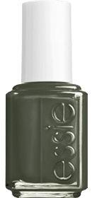 Power Clutch - Deep Dark Gray Green Nail Polish by Essie