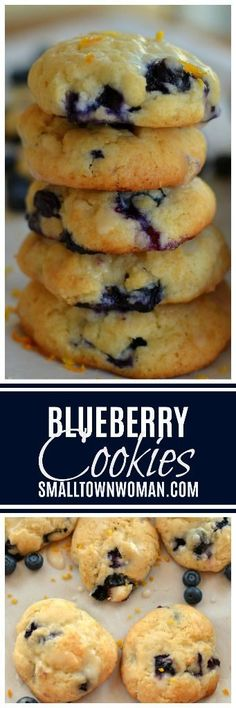 Blueberry Cookies Blueberry Recipes Cookies Cookie Recipes Cream Cheese Cookies With Fresh Fruit Cookies With Fruit Cookies Using Box Cake Mix Summer Cookies Small Town Woman Via Blueberry Cookies, Fruit Cookies, Cake Mix Cookies, Blueberry Recipes, Fruit Recipes, Cookies Et Biscuits, Dessert Recipes, Cooking Recipes, Cupcakes