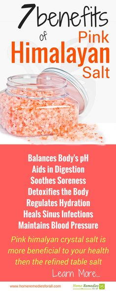 Use pink himalayan salt for its multiple health benefits on your entire body.