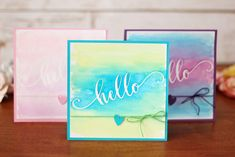 Masked Watercolor Card with Stencil Material