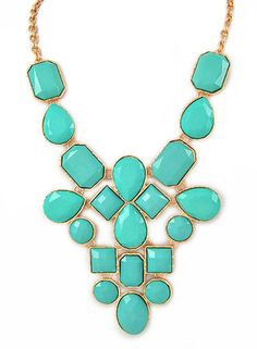 Turquoise Jewel Statement Necklace – Modeets Head Jewelry 8a04611d14a4