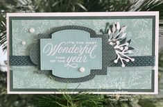Tidings and trimmings Stampin' Up!® Stampin With Diane Evans Homemade Christmas Cards, Stampin Up Christmas, Christmas Minis, Christmas In July, Homemade Cards, Christmas Blessings, Christmas Traditions, Xmas Cards, Holiday Cards