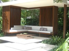 gorgeous seating pergola in the Malaysian garden by James Wong and David Cubero - Chelsea